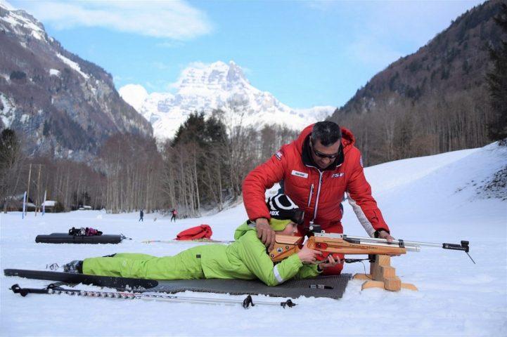 Le Salvagny l'hiver – Initiation au biathlon