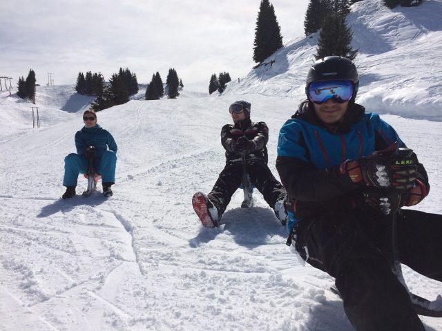 Le Salvagny l'hiver – Activités nordiques avec le Club Ados
