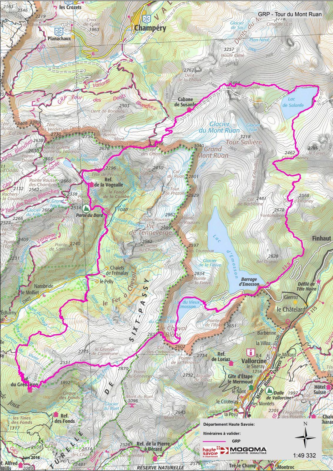 Tour du Mont Ruan 4 jours