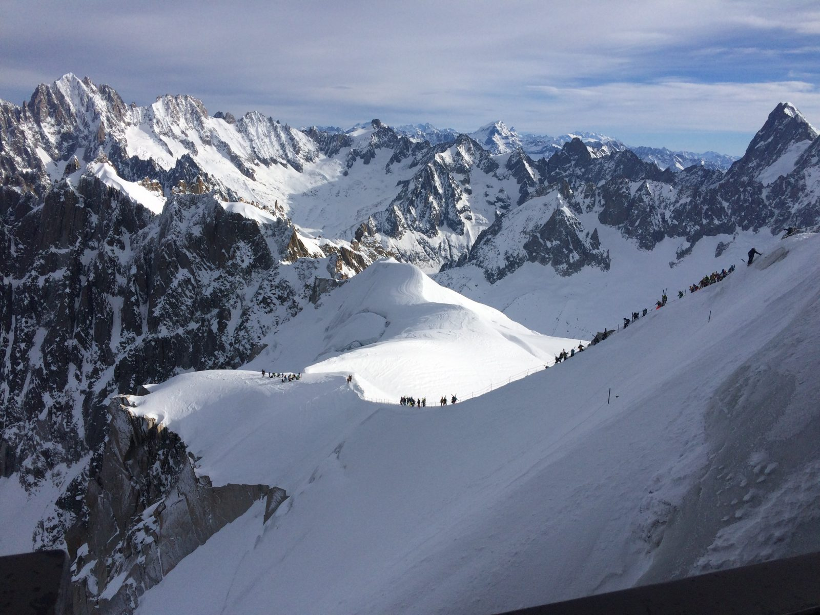 Arrête depart Vallée Blanche
