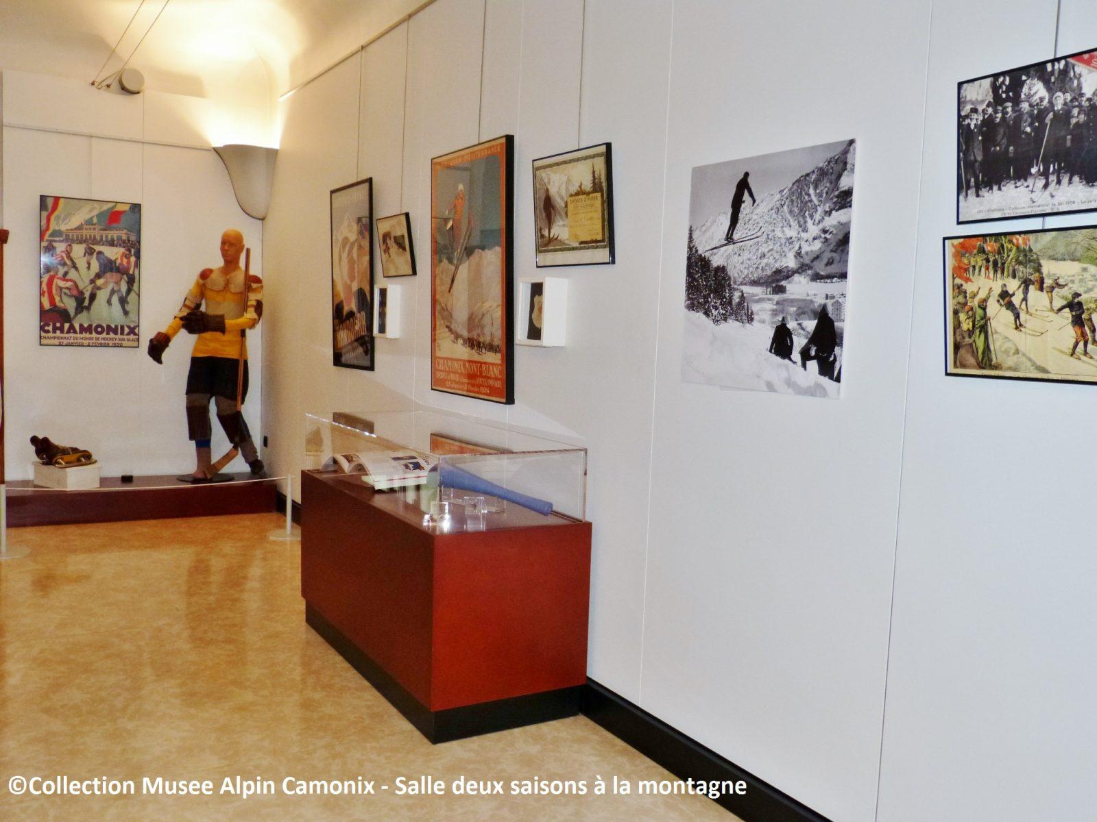 Musée Alpin Chamonix – salle deux saisons à la montagne