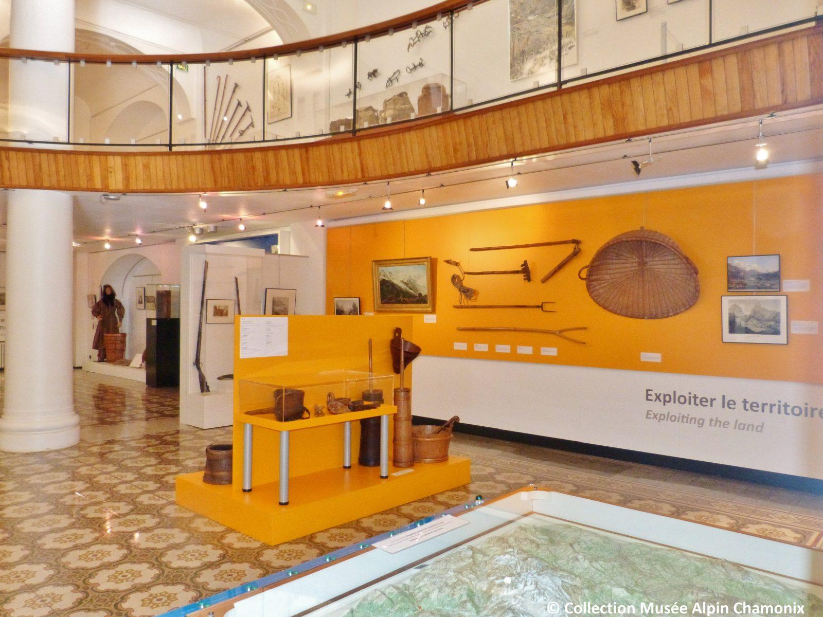 Musée Alpin Chamonix – salle repères exploiter territoire