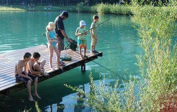Pêche à la truite au lac Bleu