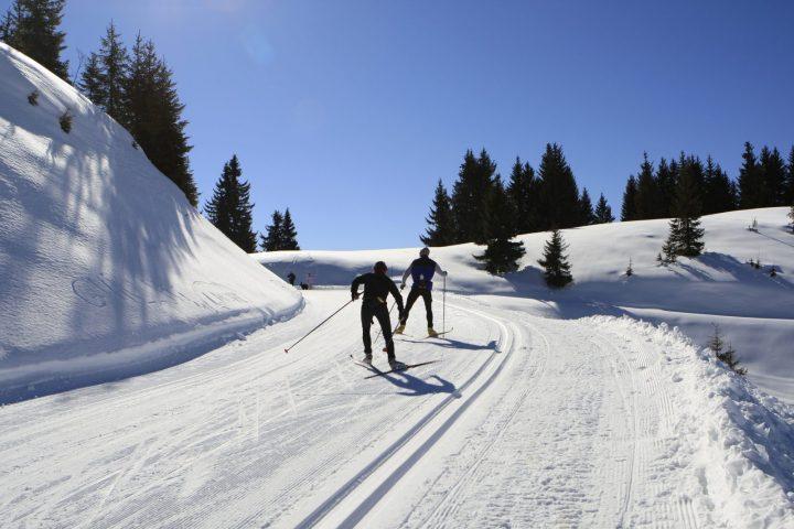 Le Bérouze ski de fond au Col de Joux Plane l'hiver