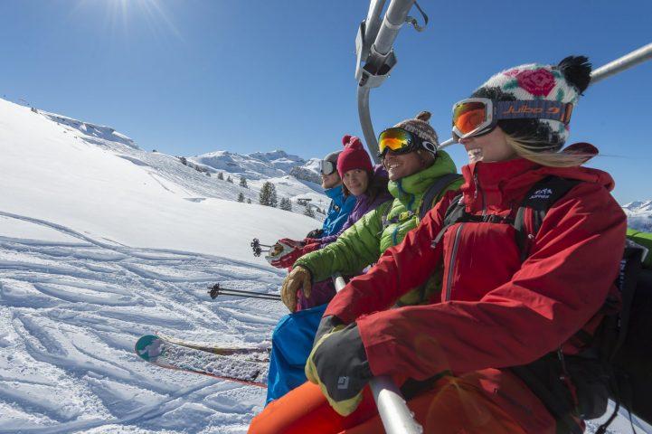 Le Bérouze ski alpin sur le Grand Massif l'hiver
