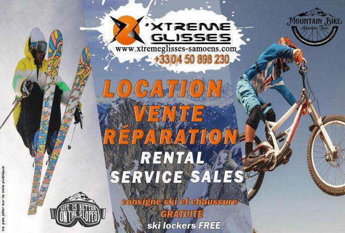 Xtreme glisses samoens location vente réparation ski vtt samoëns